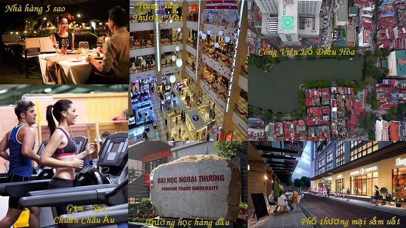 Tiện ích tại dự án Langs Village 82 Chùa Láng